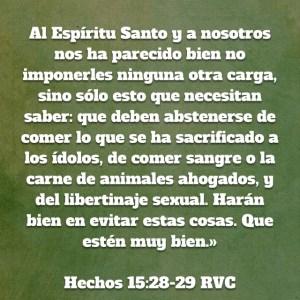 Hechos 15.28-29