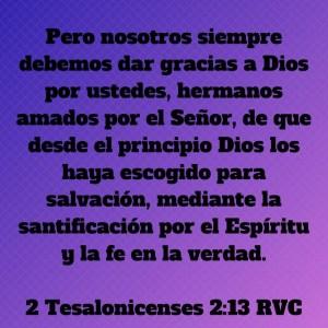2 Tesalonicenses 2.13