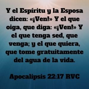 Apocalipsis 22.17