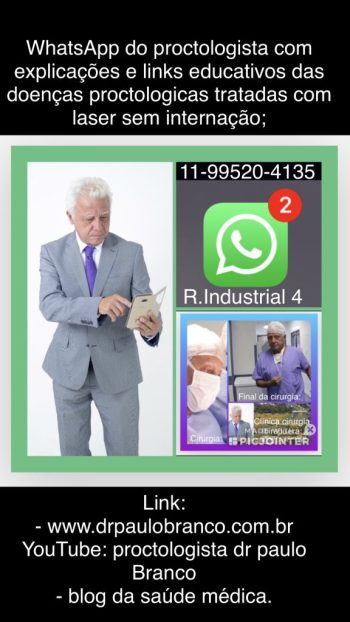 whatsapp do medico proctologista.