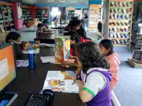 school library1 7 - About NES International School Mumbai