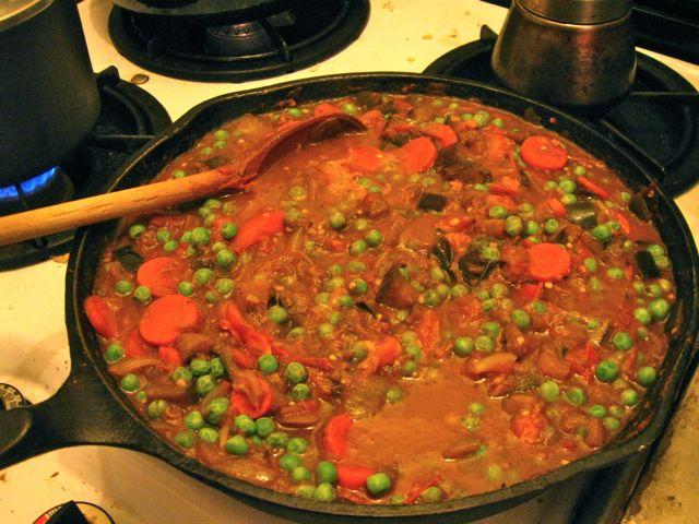 Stewed eggplant curry (bartha)