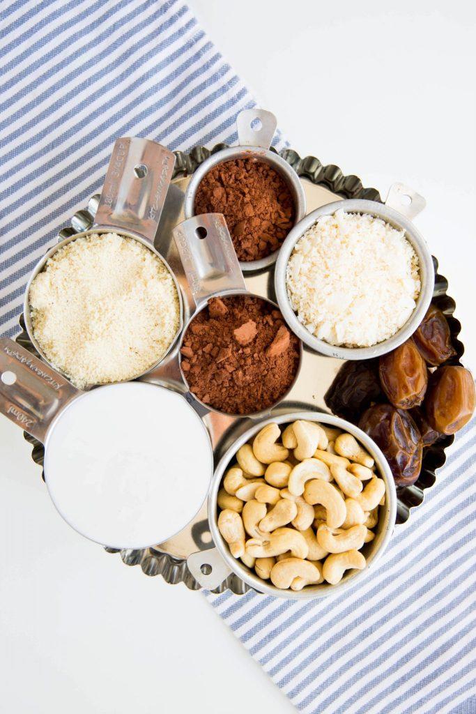 Vegan chocolate tart ingredients - Dr. Pingel