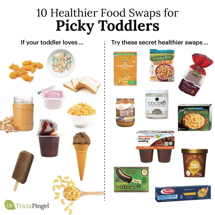Healthier food swaps for picky toddlers - Dr. Pingel