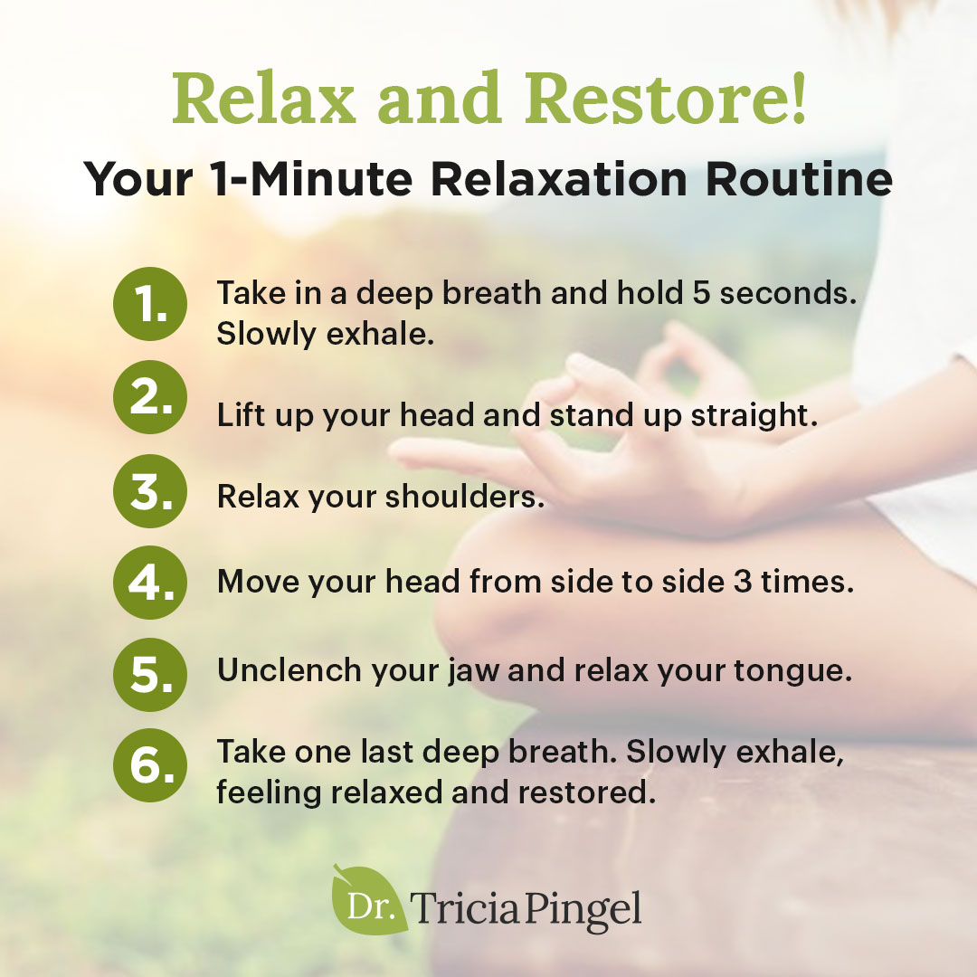 1-minute relaxation routine - Dr. Pingel