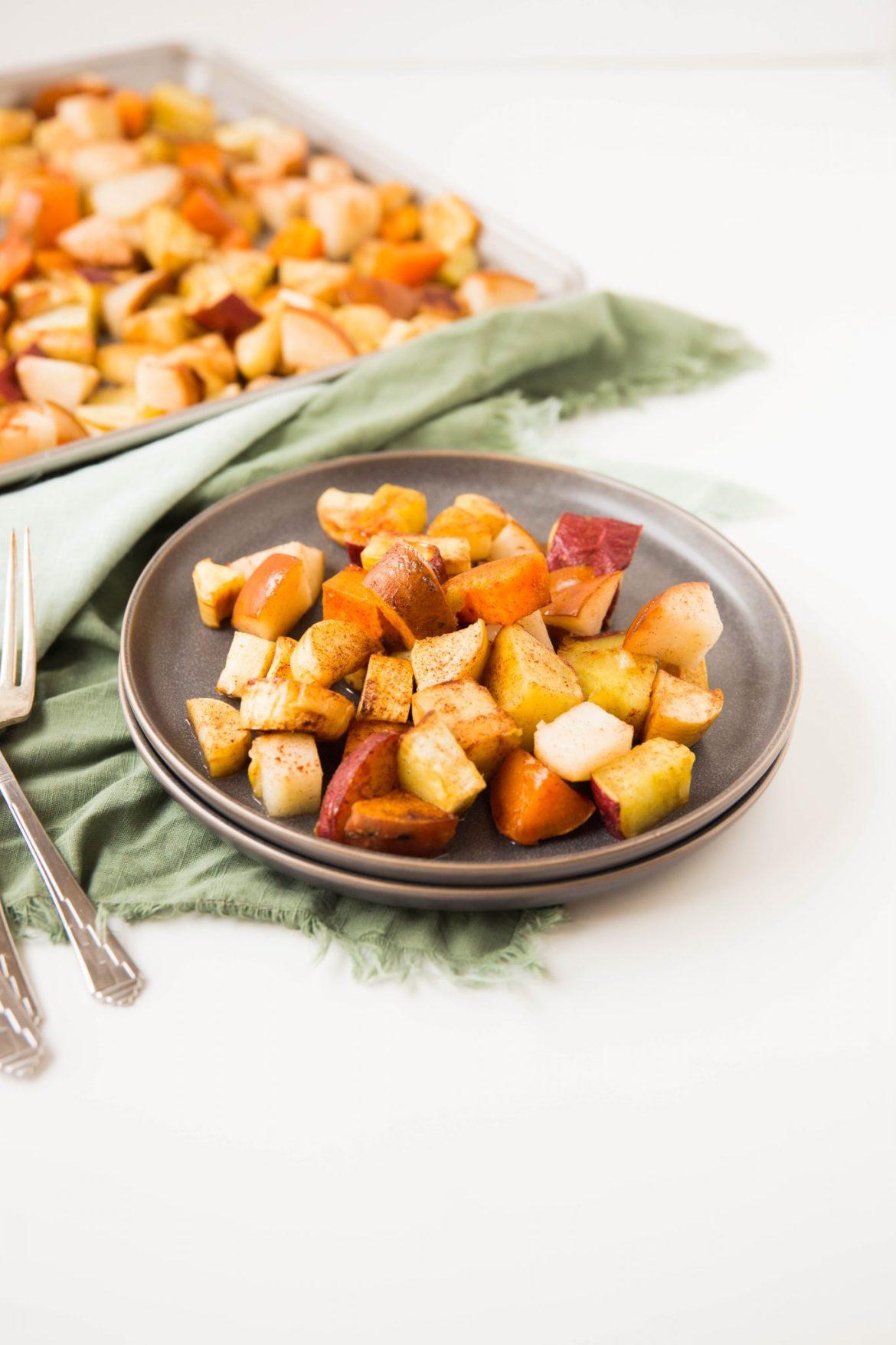 Cinnamon roasted sweet potatoes - Dr. Pingel