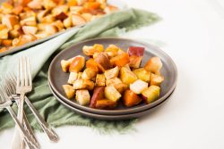 Cinnamon Roasted Sweet Potatoes, Pears, and Parsnips 1