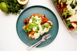 Sweet potato black bean enchiladas - Dr. Pingel