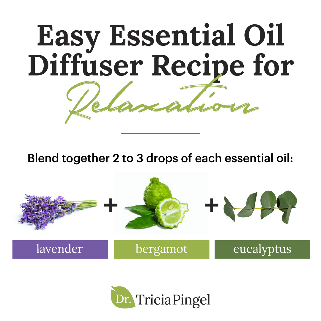 Essential oils relaxation diffuser recipe - Dr. Pingel