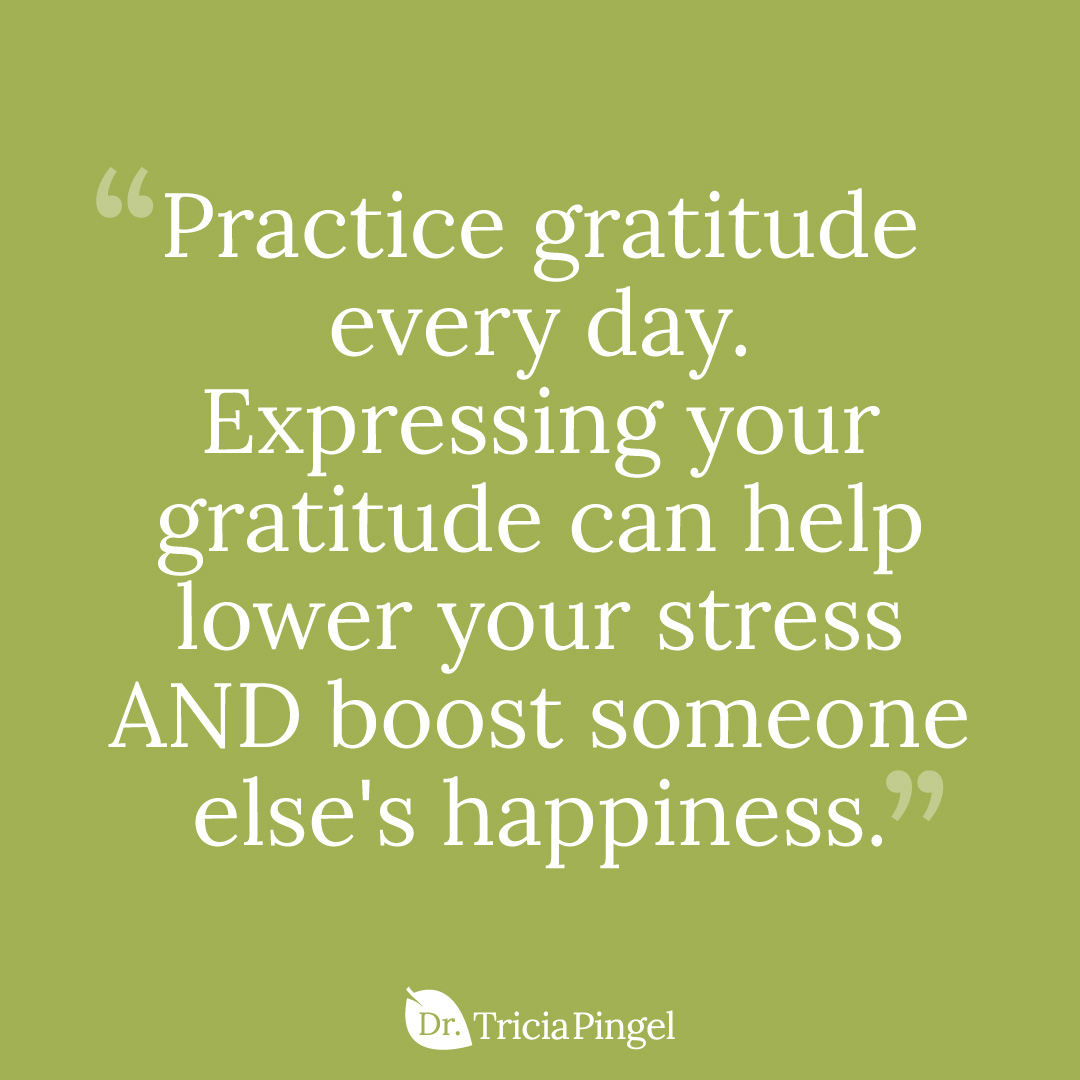 Practicing gratitude every day - Dr.Pingel