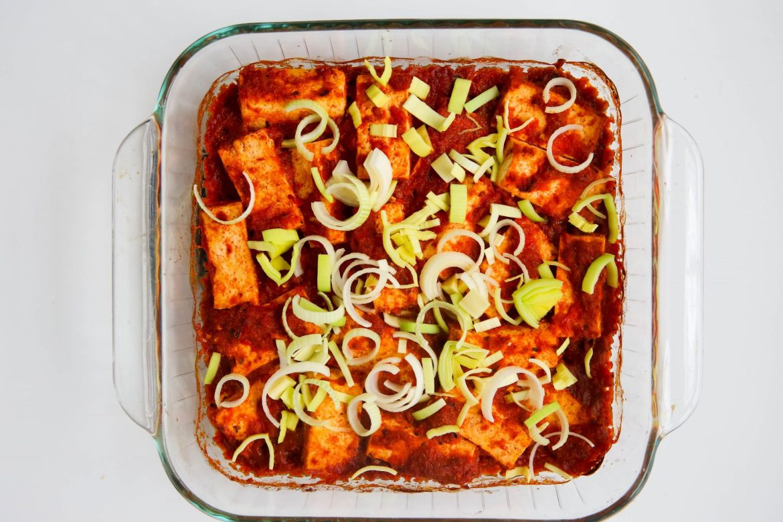 Harissa tofu - Dr. Pingel