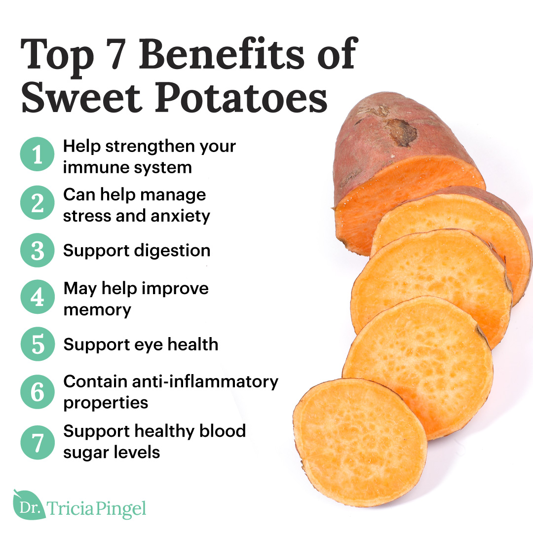 Nutritional benefits of sweet potatoes - Dr. Pingel