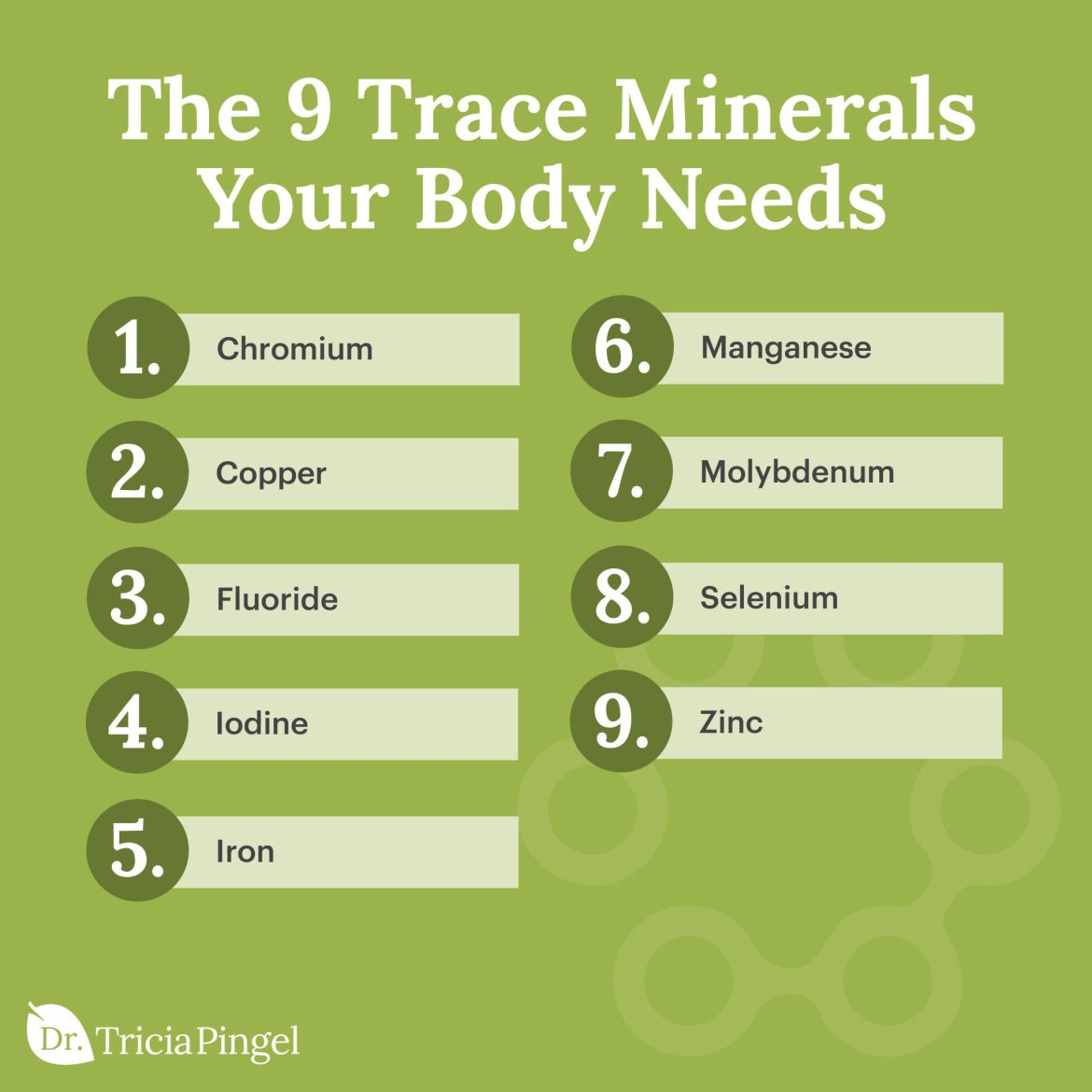 Trace minerals benefits - Dr. Pingel