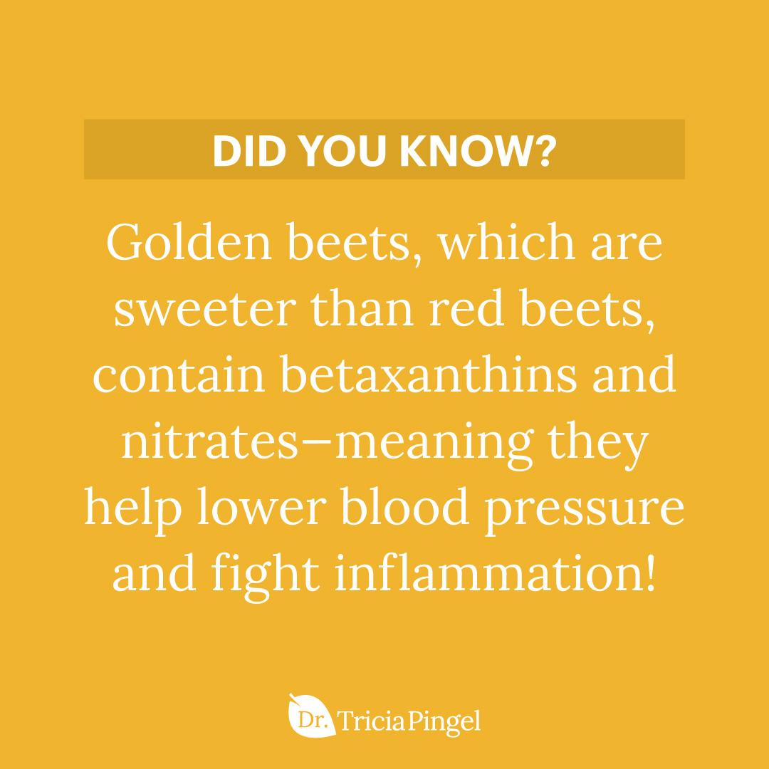 Golden beets benefits