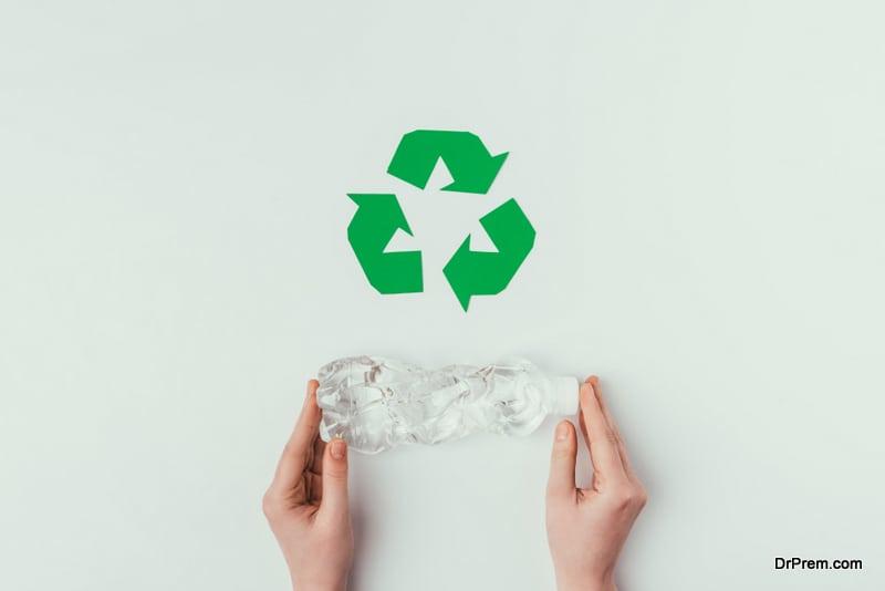 Keep recycling bins handy