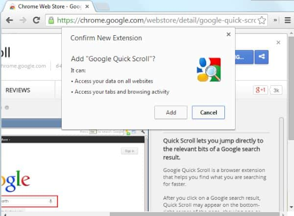 Installing Chrome extensions