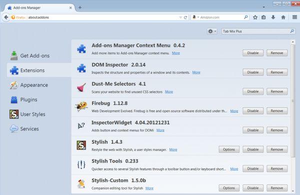 Installing Firefox add-ons