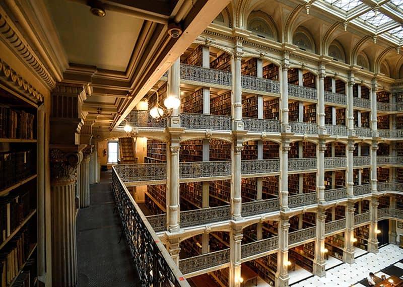 George Peabody Library, John Hopkins University, Baltimore