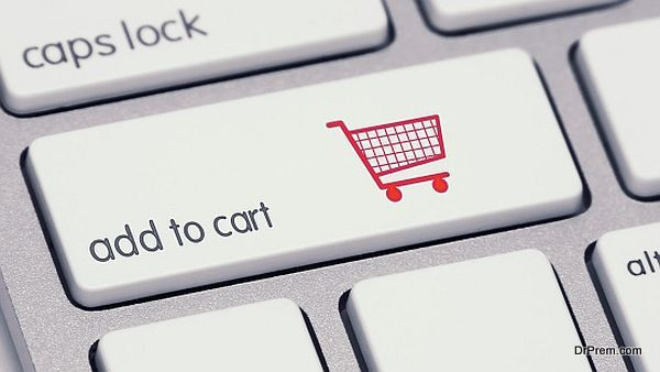 Add to Cart Keyboard Button with Red Shopping Cart