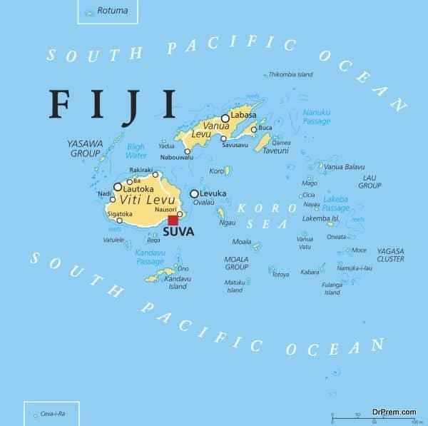 Fiji Political Map