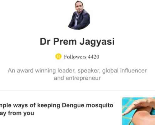 Dr Prem Jagyasi UC web news website