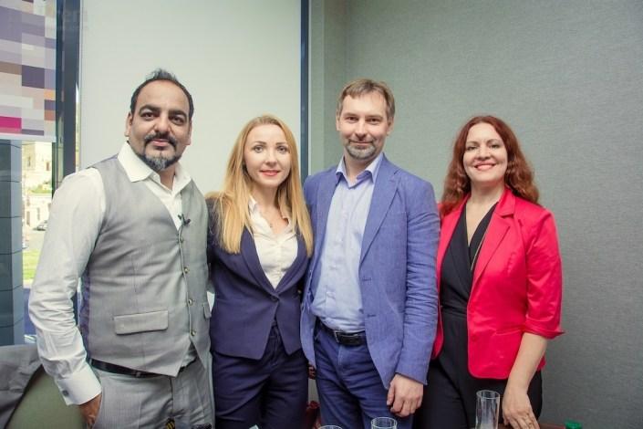Dr Prem Jagyasi with Anna Guchok, Violetta and Igor - Medical Tourism Upgrade Team