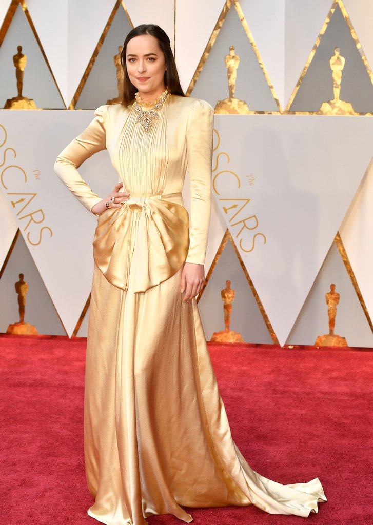 Dakota Johnson Oscar 2017 Red Carpet Arrival