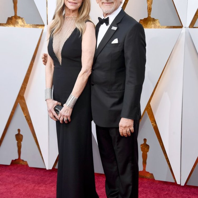 Kate Capshaw and Steven Spielberg on the Oscars Red Carpet 2018