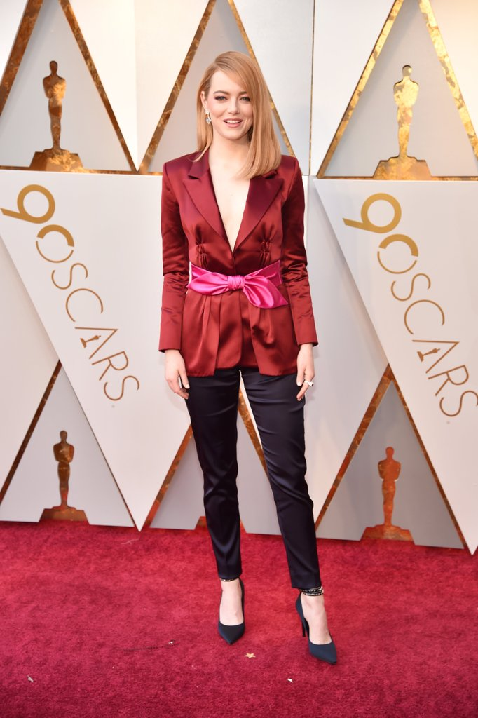 Oscars 2018 Red Carpet  Best Dressed  Dresses   Fashion   Oscars     Emma Stone on the Oscars Red Carpet 2018
