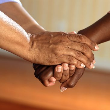 Image of hands to represent that help is at hand for mental illness