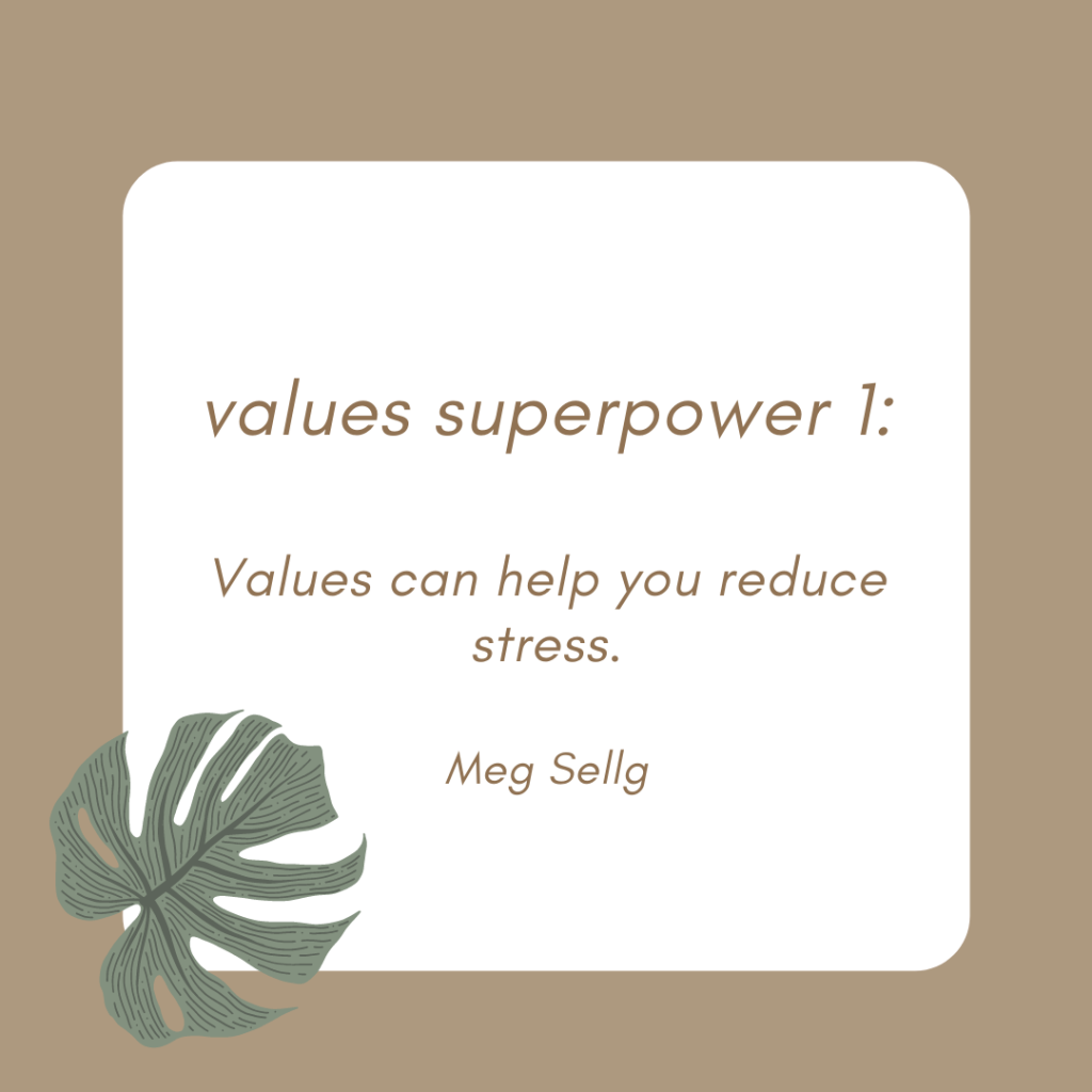 quote values help manage stress