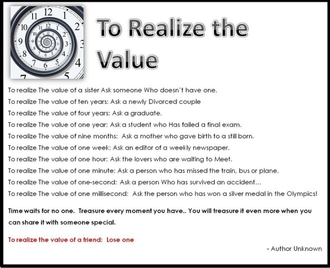 To Realize Value_Spiral Clock_ Poem