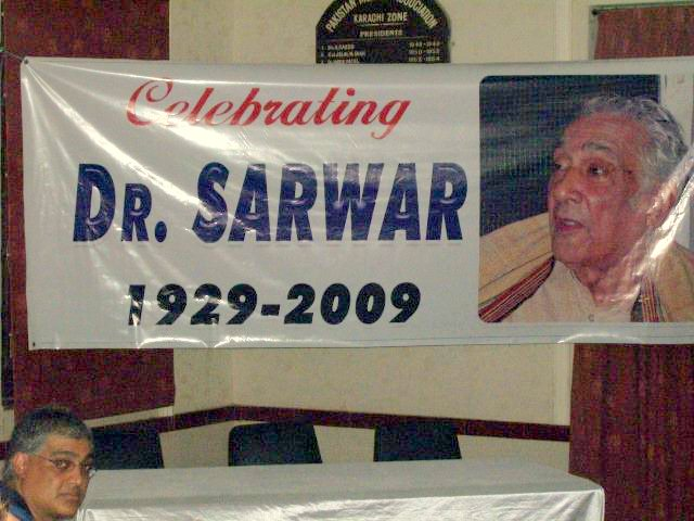 'Celebrating Sarwar' - Banner at PMA Hall