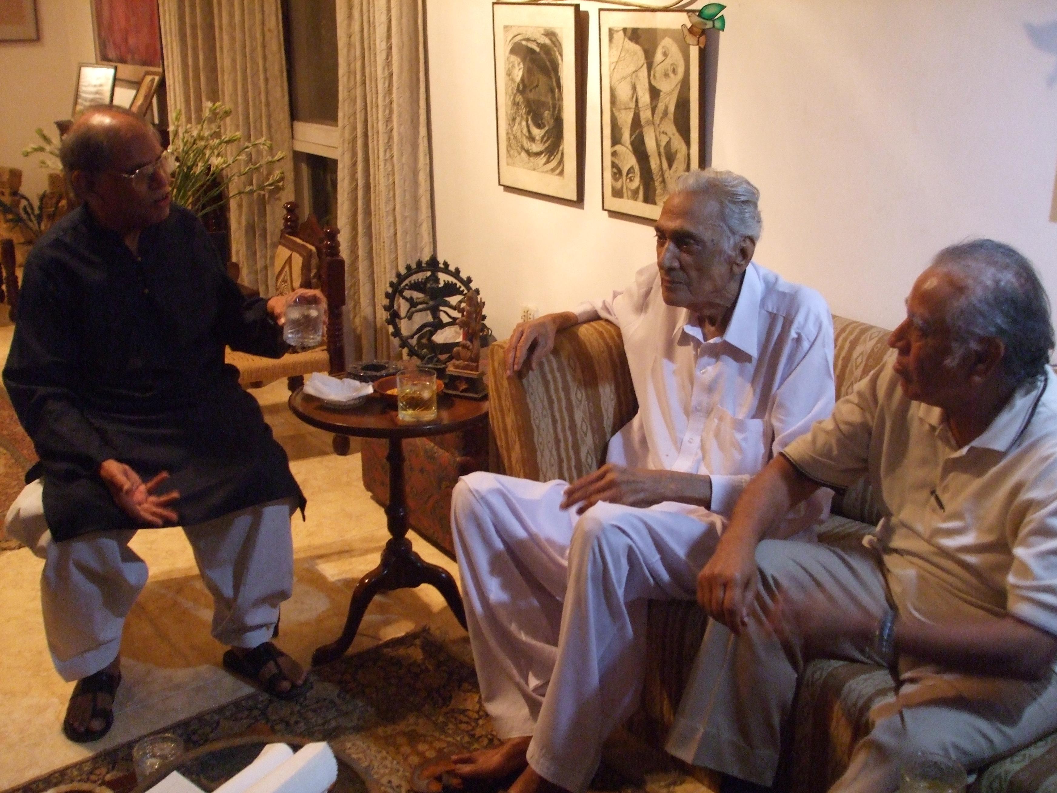 Mazhar Saeed, Dr Sarwar, Dr Badar, Karachi 2008