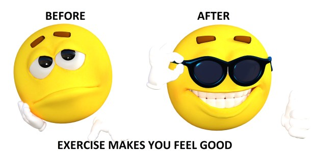 Exercise makes you feel good