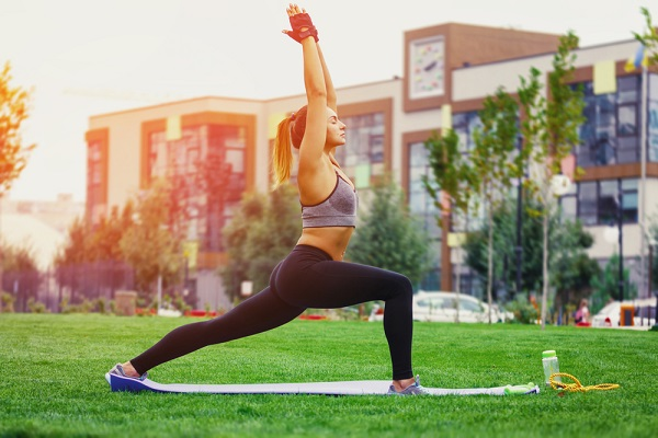 use exercise to get some alone time and self-care