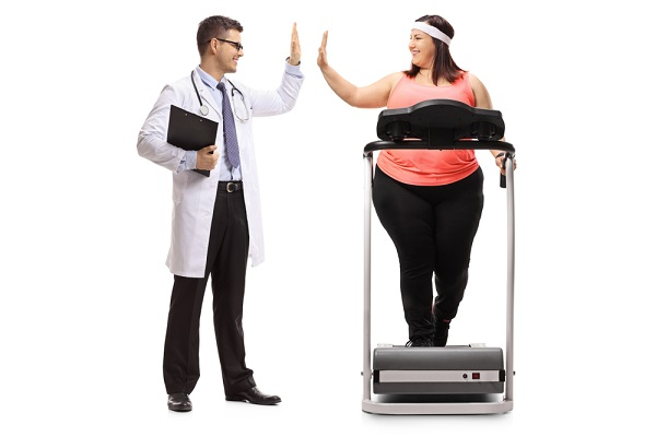 doctor encouraging exercise