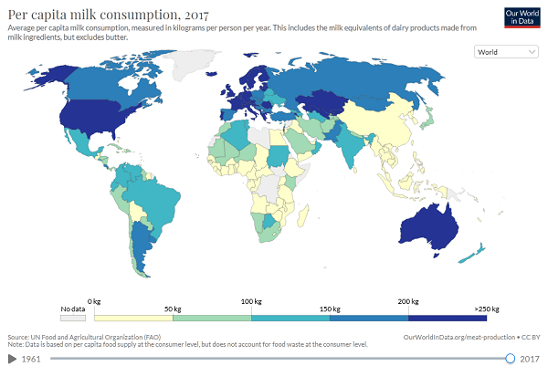 global dairy consumption