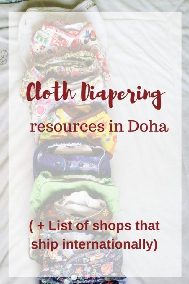 Cloth Diapering resources in Doha,Qatar + list of shops that ships internatonally
