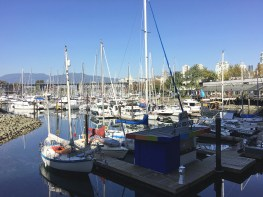 The marina off of Granville Island was lovely.