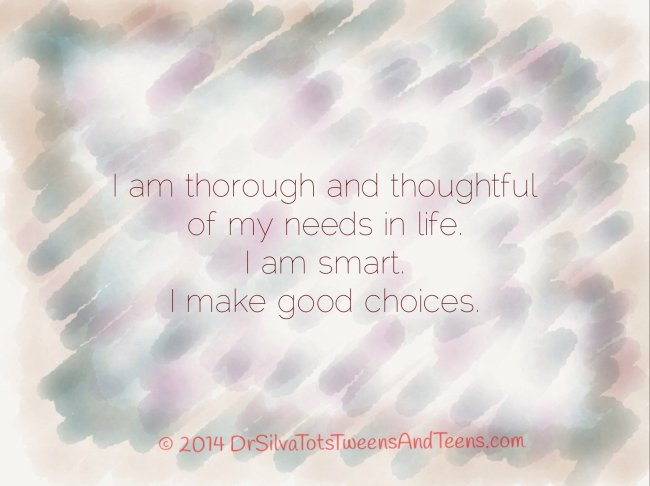 Good Choices Affirmation