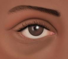 El ojo de raza negra