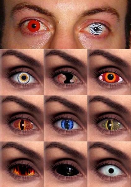 Otra mala costumbre: lentes de contacto cosméticas para sorprender en fiestas