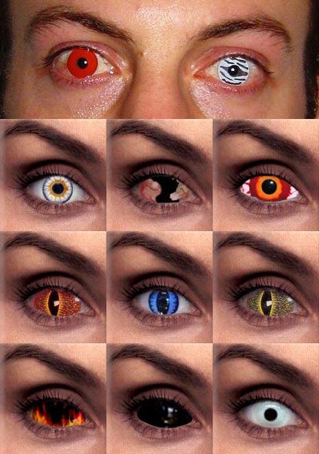 c8a5776754 Otra mala costumbre: lentes de contacto cosméticas para sorprender en  fiestas