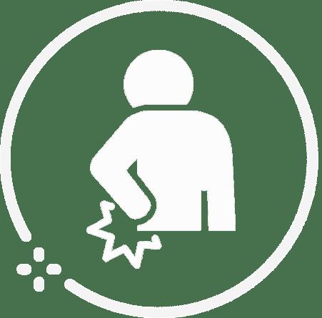 (White) Back Pain Icon