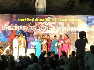 What appears to be a traditional Tamil choir