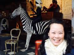 Anna and a stuffed zebra