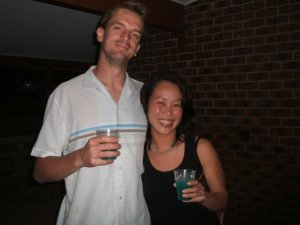 Anna and myself, circa. 2005. I may be transparent without that shirt!