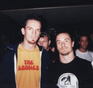 Mike Patton and myself at the Punter's Club, March, 2000.
