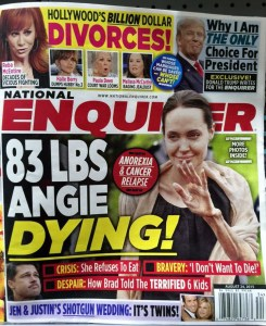 Yes, I understand it's the Enquirer.